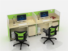 GUOXUN OFFICE Reception Furniture 168# E PARTITION 2 SEATS COMMERCIAL FURNITURE GREEN DESKTOP WORKSTATION RECEPTION