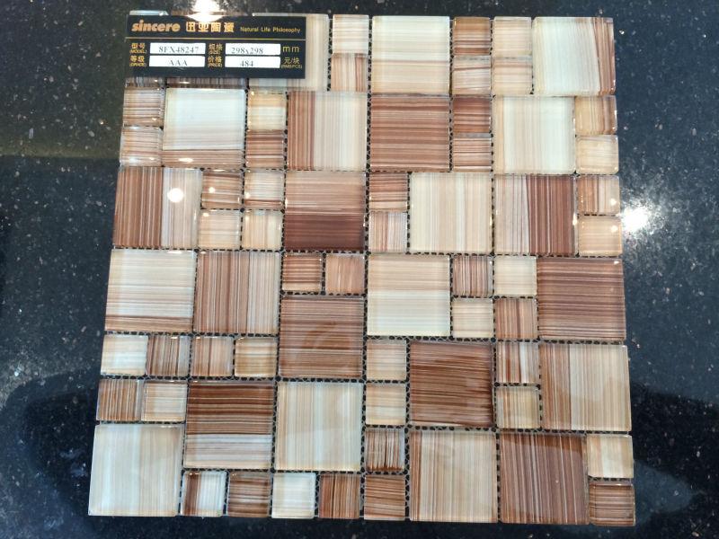 Dusche Ohne T?r Bauen : Wood Mosaic Wall Tiles