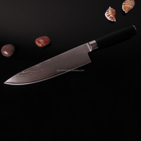 2015 hot sale 8 inch Damascus steel chef knife double forged fibre glass handle