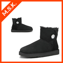 Winter ankle women sheepskin snow boots
