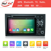 Huifei Quad Core A9 Android 4.4 Capacitive Touch Screen 1024*600 Obd Mirror Link In Car Entertainment Car Dvd Player For Audi A4