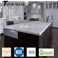 Artificial Quartz alternative to white marble stone