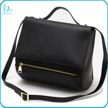 Brand design genuine cowhide saffinao ladies fashion leather handbag shuoulder bag