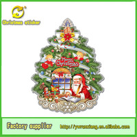 Alibaba supplier white paperboard christmas tree sticker wholesale from yiwu market for holiday decoration