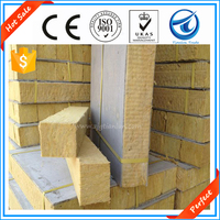 Hot Sale!Factory supply Exterior Rock wool slab insulation boards/panels/blankets/rolls materials with wire mesh for roof walls