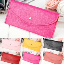Old Fashion Women Candy Color Envelope Clutch Bag Thin Wallets SV018587