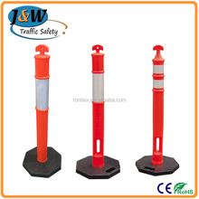 Removable Black Base Warning Plastic Bollard