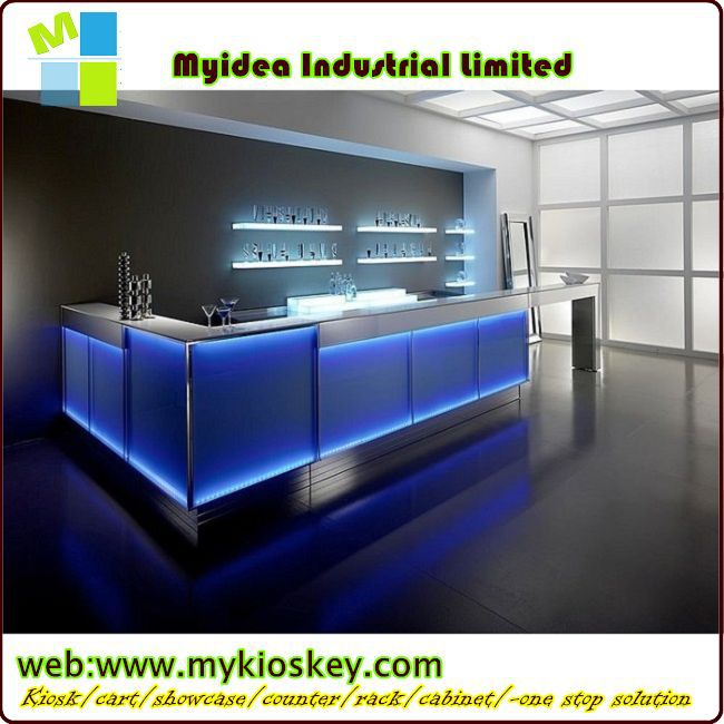 Wholesale led bar counter with modern bar counter designs for restaurants made of stone for sale - Contemporary bar counter design ...