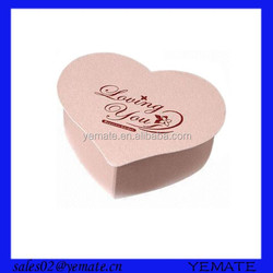 Heart shaped cardboard pink box packaging design for cake with lid