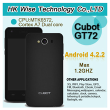 CUBOT GT72 4 inch mtk6572 dual core andriod 4.2 3g cheap phone mobile Dual sim 256MB RAM 512MB ROM Built-in GPS