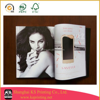 Hot sales glossy full color printing magazines