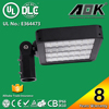UL DLC cUL TUV GS CE RoSH SAA 8 years Warranty 160W LED Parking Lot Light with 120lm/w