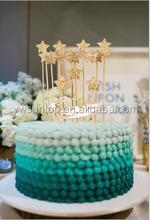 Glitter Shining Star Birthday Festival Cake Topper Decoration
