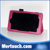 8 colors book folio 7 inch leather cases for dell venue 7 tablet, For Dell venue 7 leather case
