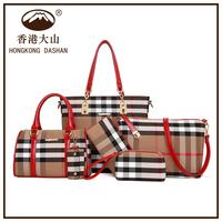 Online Shopping Hot sale 6pcs set canvas handbag bag in bag for women china wholesale for Lady