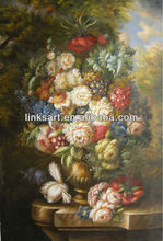famous oil paintings of flowers home decoration