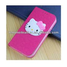 Leather Hello Kitty Wallet Cover Case for Samsung Galaxy S4,Flip Cover Grand Case For Samsung Galaxy S4