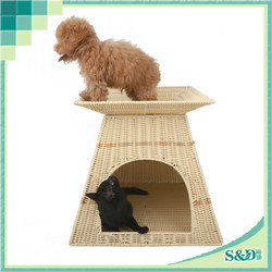 Promotional Factory Direct wholesale new design rattan Indoor Pet Bed Dog House