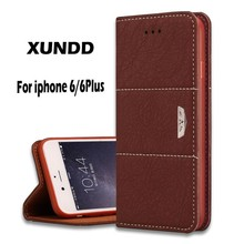 Xundd Newest Genunine Flip Leather Case For iPhone 6,For iPhone 6 Case