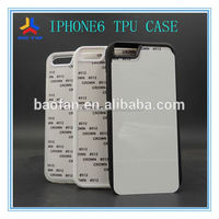 Year-end promotion!Offer printing service! 2d blank printable sublimation tpu mobile phone case for iphone6