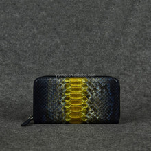 real python leather zipper wallet_exotic wallet _wholesale leather wallet