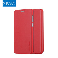 Factory price flip leather case for huawei p8 lite