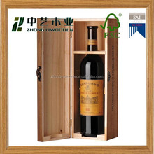 2015 year FSC&SA8000,ISO9001 hot selling solid cheap pine wooden wine gift box for sale