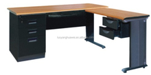 L-Shape Steel Computer Desk for metal office table