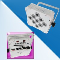 6pcs/lot with flight case Factory Directly Sale rechargeable Wireless par 9*3W RGB 3 in1 LED Slim Par Light, wireless dmx LED up