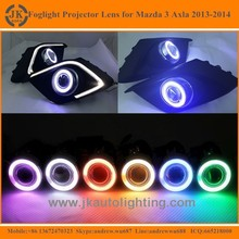 Hot Selling Angel Eyes Projector Lens for Mazda 3 Axela Super Bright Foglight Projector Lens for Mazda 3 Axela 2013 2014