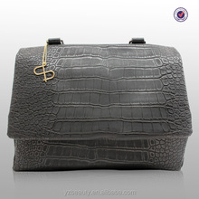 Simple fashion newest designed stylish crocodile handbag