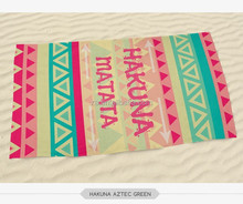 2015 3D digital printed 70*140 wholesaler rainbow color aztec holiday beach towel