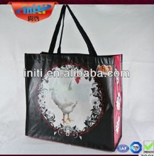 2014 hot selling!!!Beautiful picture printing metallic shinning reuseable glossy laminated non woven shopping bag