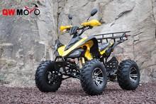 CE yellow electric start kawasaki style quad bike 250cc atv for adult