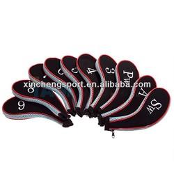 neoprene golf iron head cover