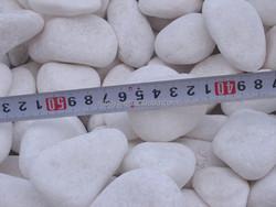 Snow white pebble stone,snow white river rock for garden and home