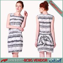 Directo de fábrica de china últimas OEM ropa de moda de nueva vestido de diseño para mujeres