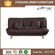 Dark Brown Leather Sofa Bed Living Room Furniture