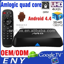 Hot selling 2.4G 5G wifi amlogic s802 2.0ghz ultra hd 4k 3d blu-ray player google android 4.4 tv stick
