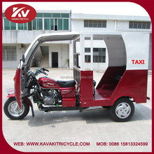 Wholesale popular hot selling KAVAKI red taxi passenger tricycles with cabin