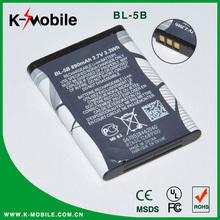 3.7V/890mAh Li-ion Phone Battery Bl-5b for Nokia 3220 7260 6020 3230 6060 5070 N80 N90 5140 6021 6070 6080 5500 5200