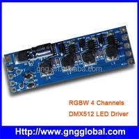 PWM RGBW 4channel led dmx decoder