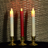 LED taper candle with remote moving flame taper led candle