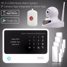 Advanced wifi free push WIFI GSM alarm system & gsm intruder alarm system mutlifunction easy operation