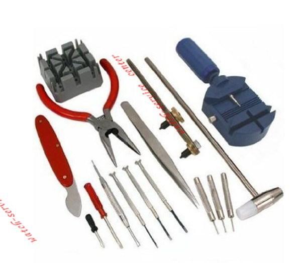 16 пк делюкс часы открывалка инструмент комплект комплект ремонт булавка ремешок для удаления чехол держатель часы ремонт инструмент комплект