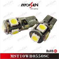 China factory! high intensity T10 5smd led bulb, auto part 5w canbus T10 led canbus