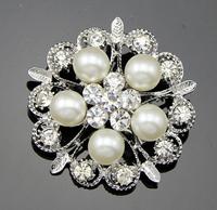 Hijab Pins Artificial Flower Pearl Brooch