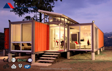 Econova Low Cost light steel structure Prefabricated villa/ small house/mobile home /green house