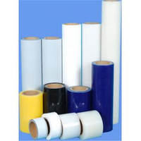 Blue plastic packaging pvc transparent film