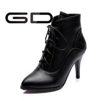 Fashion sexy ladies high heel ladies PU ankle boots